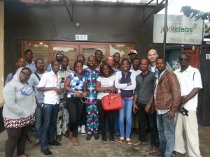 Photo de famille des participants au #wasexotweetup