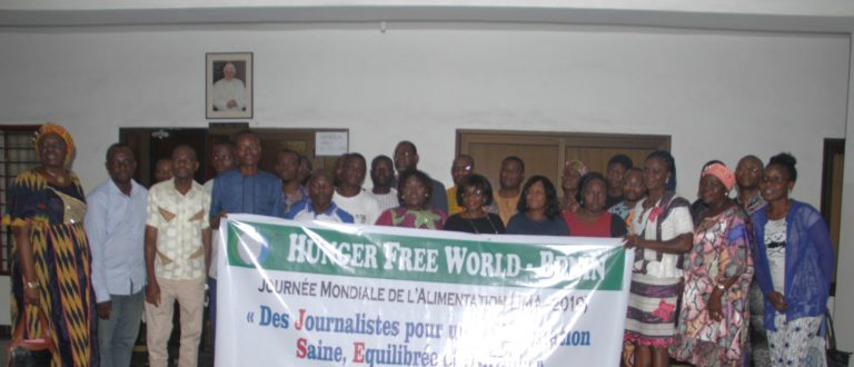 Article : Journée mondiale de l'alimentation 2019: Hunger free world agit avec les journalistes pour une alimentation saine et durable